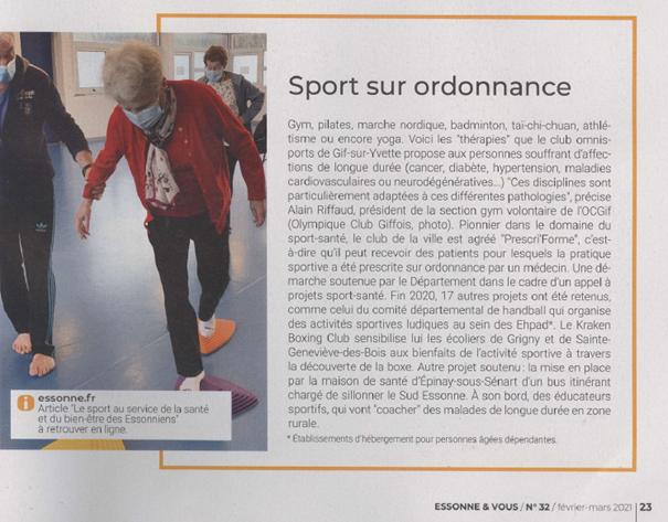 Le Sport Santé dans la Presse