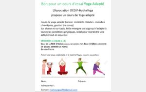 Hatha Yoga - Nouveaux cours